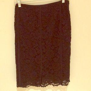 Tory Burch black Lace Skirt